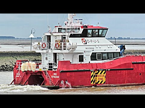 High Speed Craft VIVACE offshore crew boat exit Emden DCZB IMO 9782144