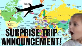 SURPRISE TRIP OF A LIFETIME HALFWAY AROUND THE WORLD!! / PLANNING OUR FAMILY VACATION