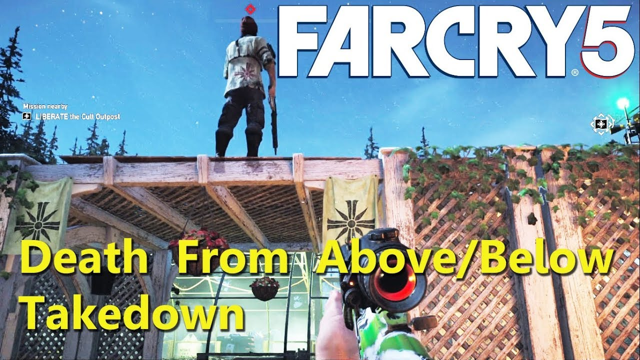 Far Cry 5 How To Death From Above Below Takedown Youtube