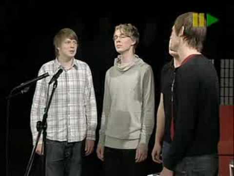 Ringmasters sings Blackbird on tv
