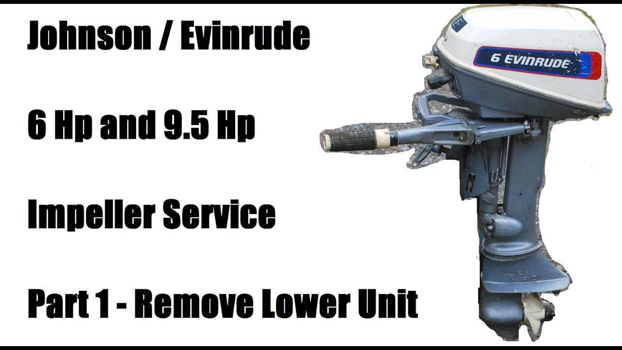 Johnson Evinrude 6 Hp Remove Lower Unit - Part 1/3