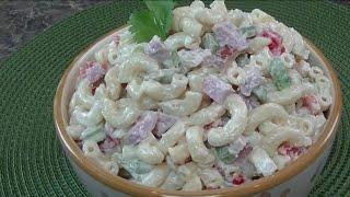 Macaroni Salad With Smoked Ham - Oh...
