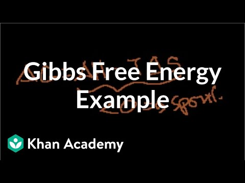 Gibbs free energy example | Thermodynamics | Chemistry | Khan Academy