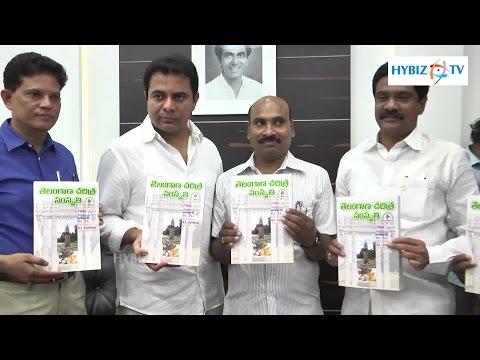 KTR IT Minister Launch Telangana History Book - Secretariat Hyderabad - Hybiz.tv