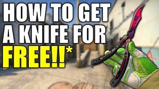THE BEST WAY TO GET A FREE CSGO KNIFE (actually works!) | TDM_Heyzeus