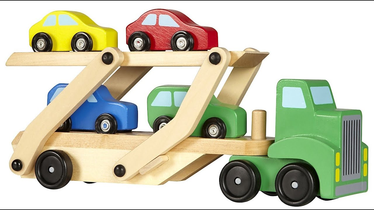 Toy Car Rack : Melissa doug car carrier cars and trucks toys for kids