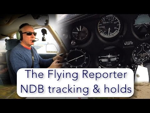 NDB tracking, NDB holds, ILS approach Southend - Private pilot PA28