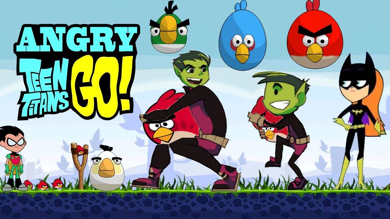 Angry Teen Titans Goangry Birds Meet Teen Titans Go -5035