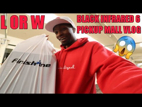 CAMPED OUT!!! BLACK INFRARED JORDAN 6 PICKUP MALL VLOG