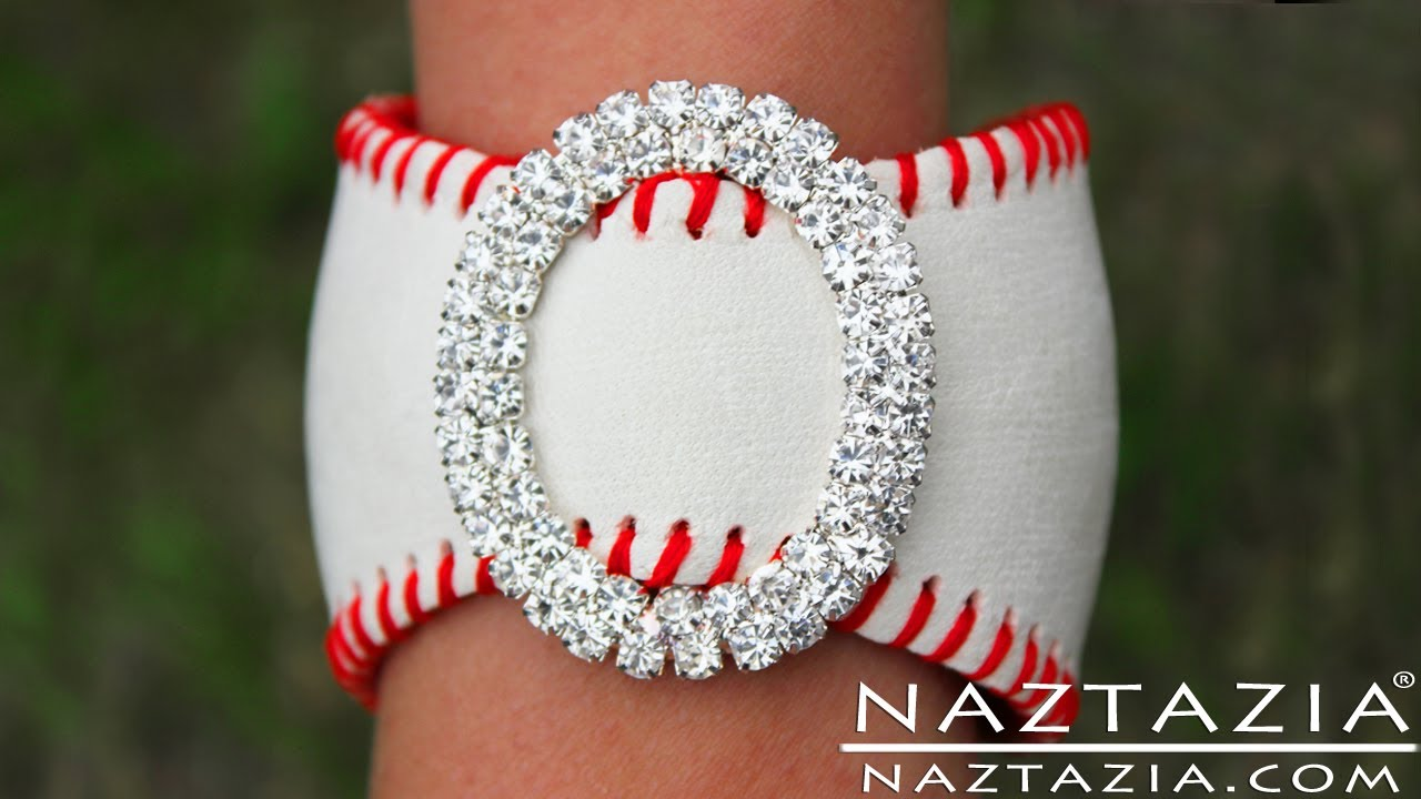 Diy Learn How To Make Easy Baseball Cuff Bracelet Leather Bracelets From Base Jewelry Jewellry You