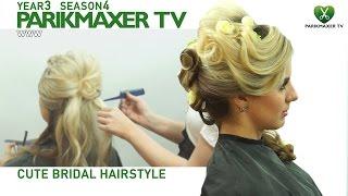 Элегантная свадебная прическа Cute bridal hairstyle парикмахер тв parikmaxer.tv