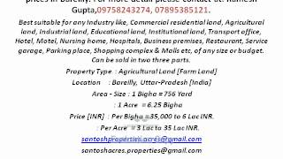 Agriculture land for sale in bareilly