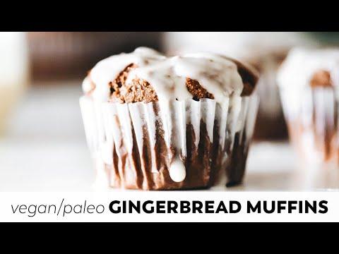 SunButter Gingerbread Muffins // vegan, paleo, nut-free