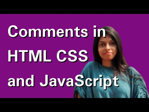 How To Comment In HTML CSS And JavaScript