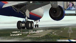 Пожар двигателя и уход на второй круг на Boeing 767-300. Прединфарктный стрим.