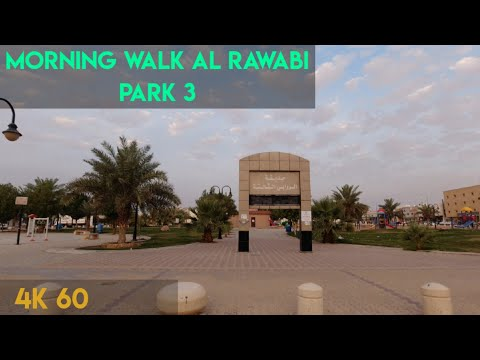 Walk in Al Rawabi Park 3 Riyadh City Arab Saudi 4K