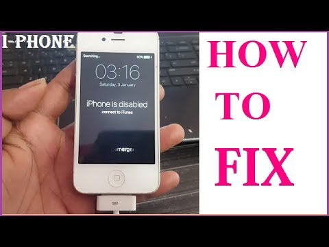HOW TO FIX I PHONE DISABLED  4/4S/5/5S/6/7 PLUS ALL I PHONE MOBILE  SETUP BY SETUP IN HINDI