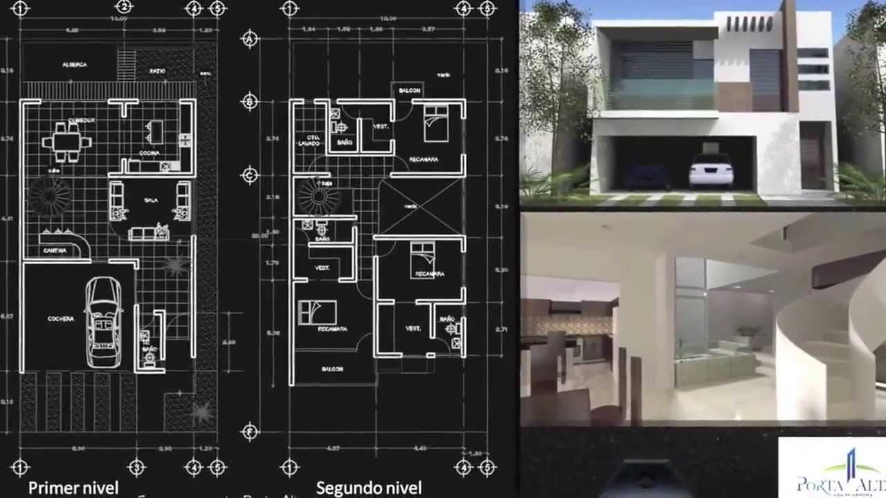 Planos de casas 9x18 10x18 20x18 youtube for Casas minimalistas planos