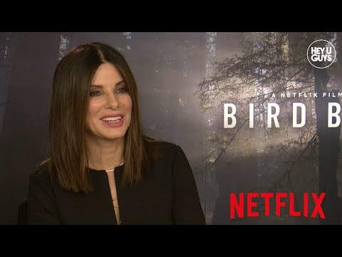 Sandra Bullock on acting with a blindfold, John Malkovich & Sarah Paulson for Netflix's Bird Box