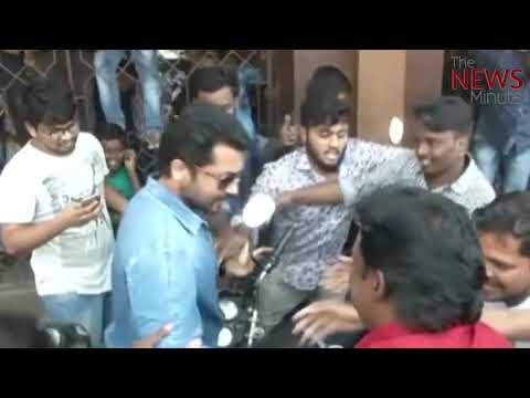 Watch: Suriya's brush with fan frenzy at a theatre, here's what he did to escape