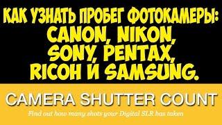 Как узнать пробег фотокамеры:  Canon, Nikon, Sony, Pentax, Ricoh и Samsung
