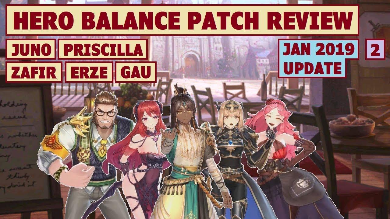 King's Raid - Hero Balance Patch Review Part 2 (Jan 2019 Update) + Post  Buff Performance Test