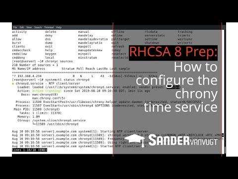 RHCSA 8 Prep: Configure The Chrony Time Service - Sander Van Vugt