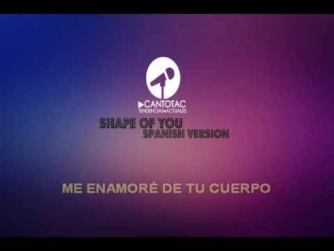 Shape of you Spanish version karaoke con coros - Kevin & Karla - Karaokes Canto TAC