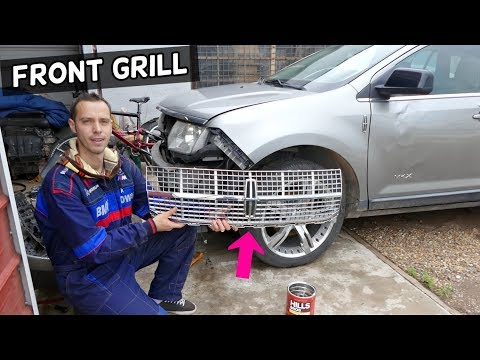 LINCOLN MKX GRILL REPLACEMENT REMOVAL. GRILLE