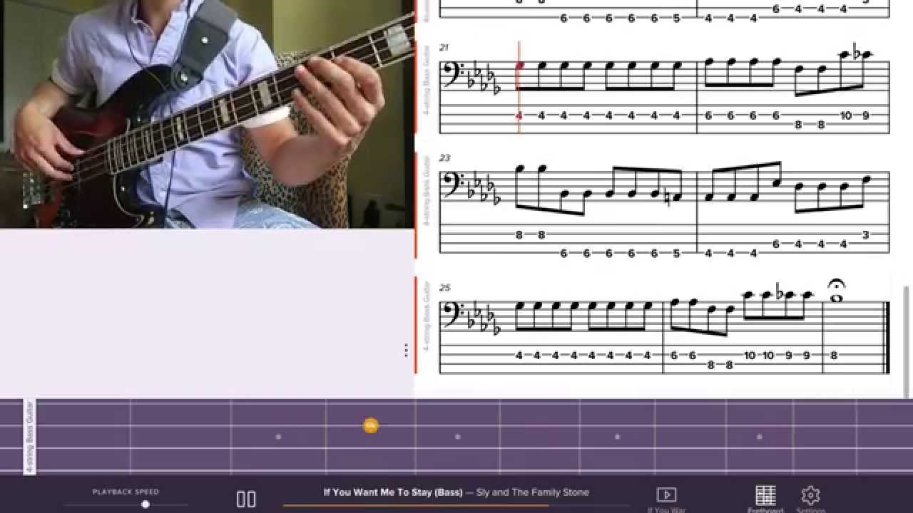 How to play sly the family stone if you want me to stay how to play sly the family stone if you want me to stay bass lesson youtube hexwebz Choice Image