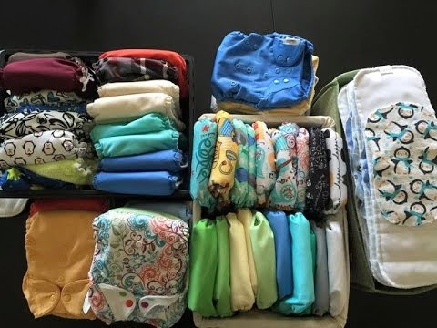 Cloth diaper stash for twins