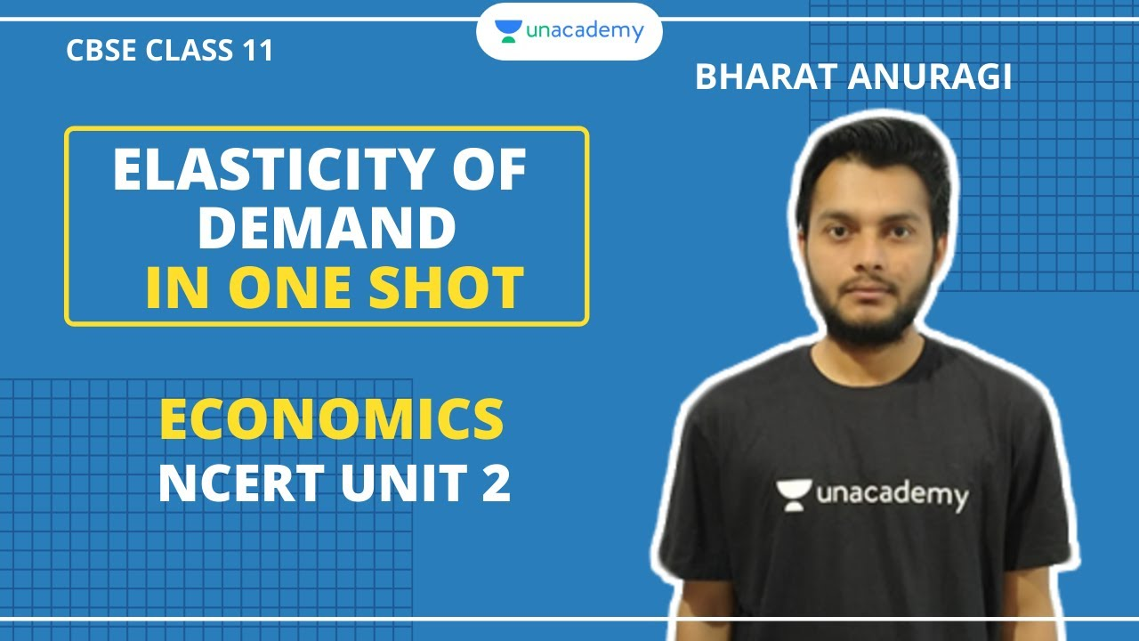 Elasticity Of Demand In One Shot Ncert Unit 2 Micro Economics Cbse Class 11 Bharat Sir Youtube