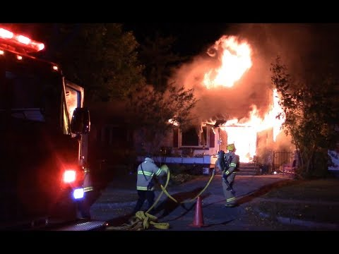 Arrival Footage - Fully Involved House Fire