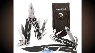 WORKPRO 3PC Camping Tool Set Multi Pliers Tactical knife Multi Tools Survival Tool Kits