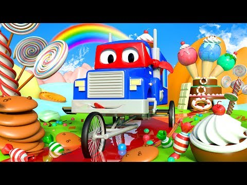 Carl the Super Truck is CANDY BIKE in Car City Cars & Trucks construction cartoon for children
