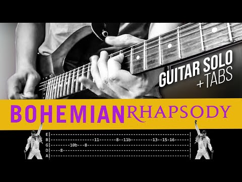 Bohemian Rhapsody Guitar Solo Lesson - Queen (with tabs)