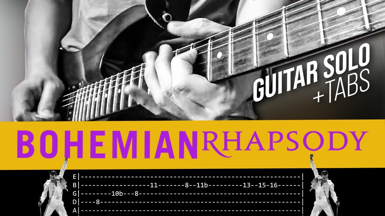 Download Bohemian Rhapsody Guitar Solo Lesson - Queen (with tabs)
