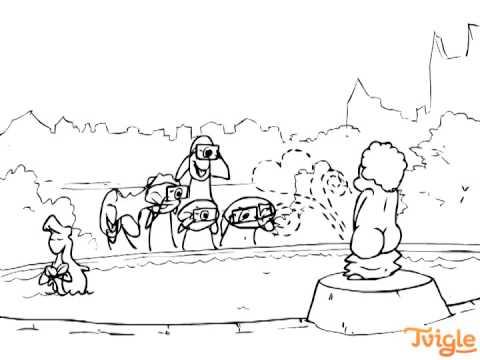 Писающий мальчик мультфильм
