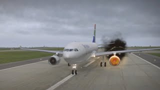 CABIN CREW TRAINING: REJECTED TAKE OFF (RTO) / ABORTED TAKE OFF FOLLOWING AN ENGINE FIRE