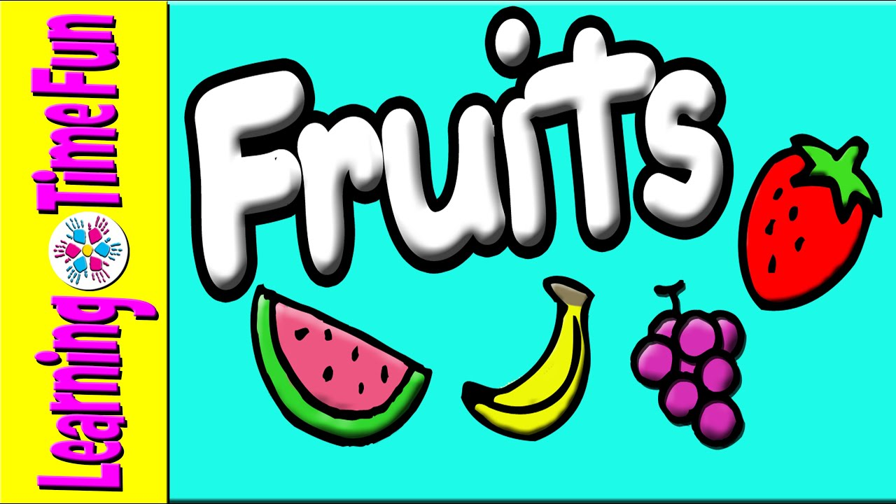 Learn & Spell Fruits for Kids Preschool Fruits