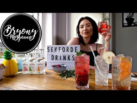 SpringSummer Cocktails with Sekforde Drinks  Bryony Morganna
