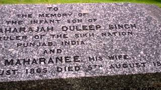 Maharaja Duleep Singh Son Gravestone Kenmore Highland Perthshire Scotland