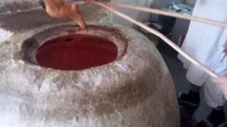 Грузинский лаваш - kак пекут хлеб в Грузии