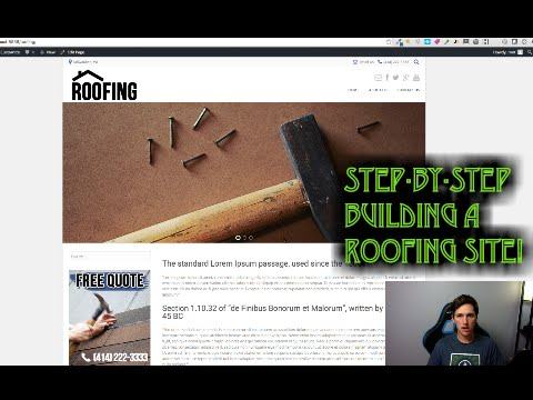 Roofing Website Design Template Tutorial Video Step-By-Step