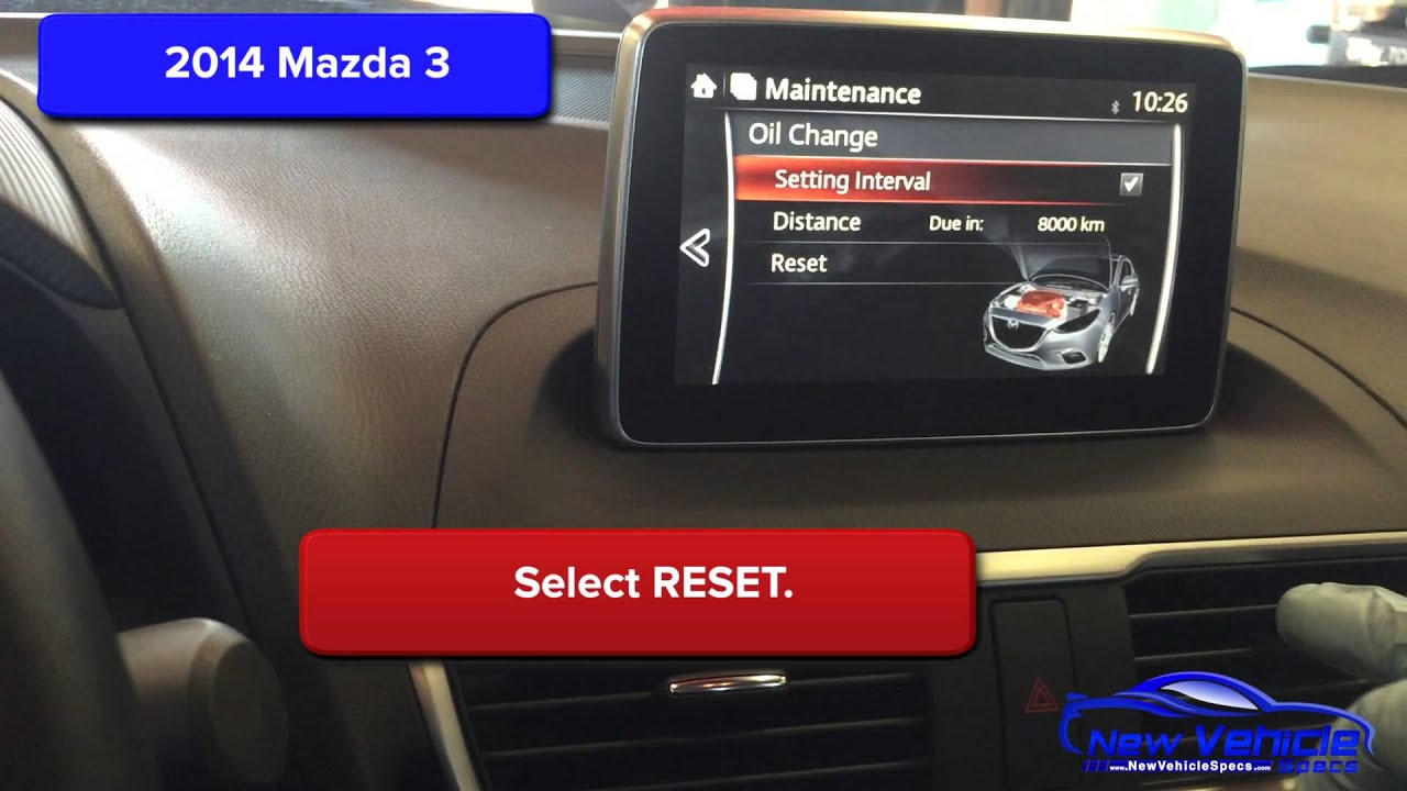 2014 mazda 3 oil light reset / service light reset - youtube
