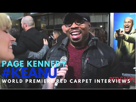"Page Kennedy #RushHour interviewed at the premiere of ""Keanu"" #KEANU #KeyandPeele"