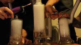 Mobius Matrix, Sovereignty King Stemline, and Leisure Glass 15 arm milk