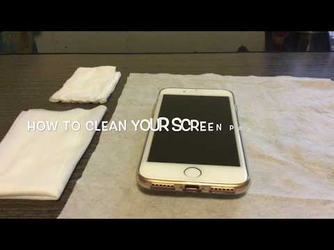 How to clean your iPhone/iPod/iPad/Android screen protector ~Rainbow Season