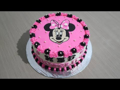 Birthday Cake For Girls 👧 How to Decorating Tart Minnie Mouse