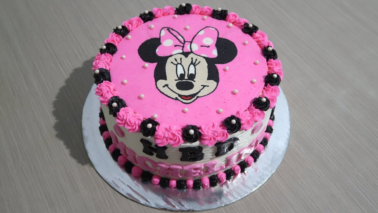 Birthday Cake For Girls How To Decorating Tart Minnie Mouse